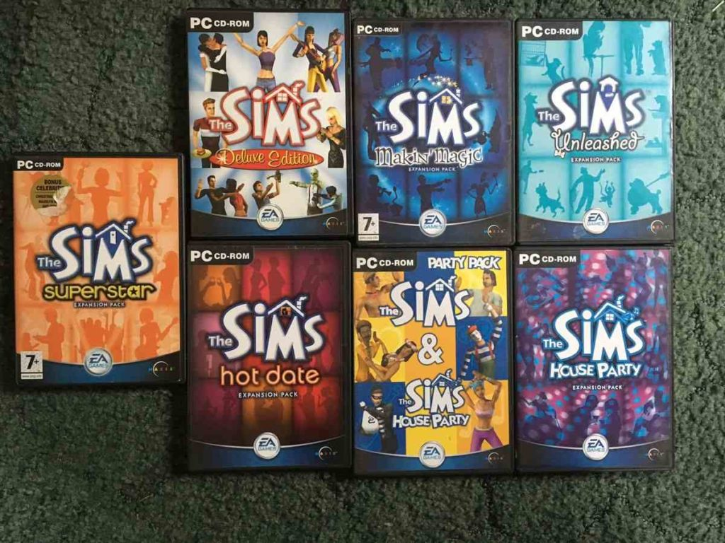 the sims 1 expansion packs