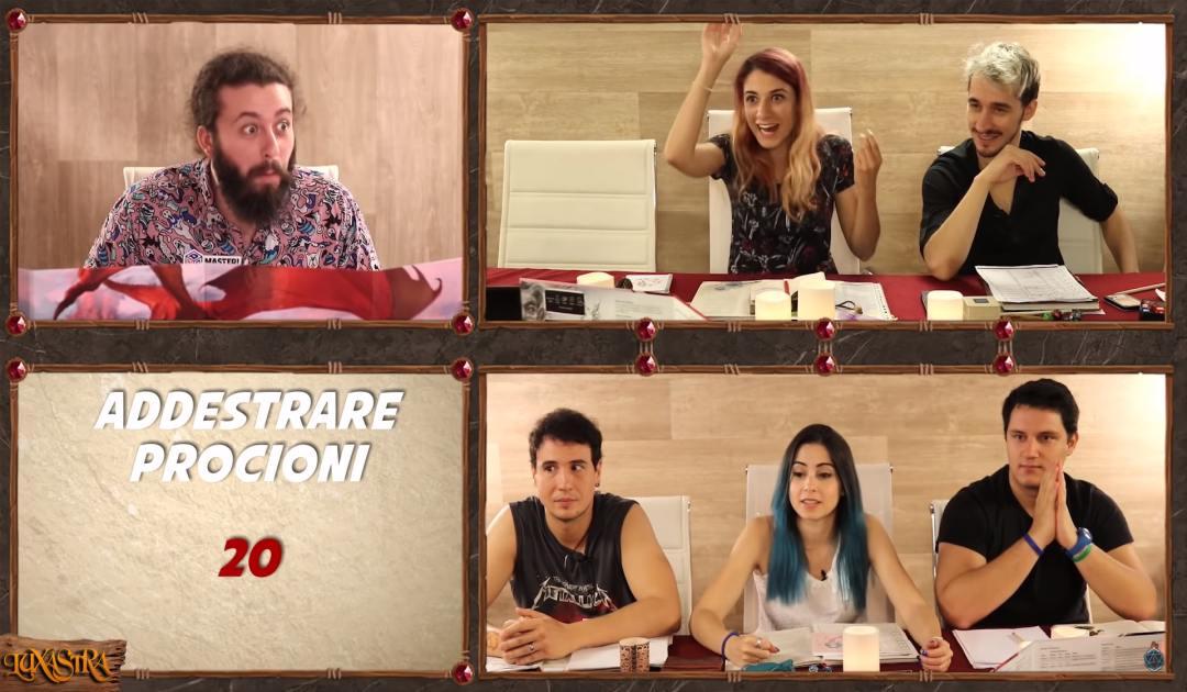 Screenshot dall'episodio 12 di Luxastra dove Dalia addestra il terribile procione