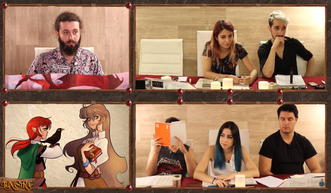 Screenshot dall'Episodio 12 di Luxastra che mostra la discussione tra Dalia e Shiran
