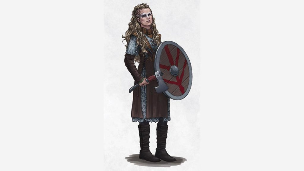 Una shieldmaiden in D&D 5E