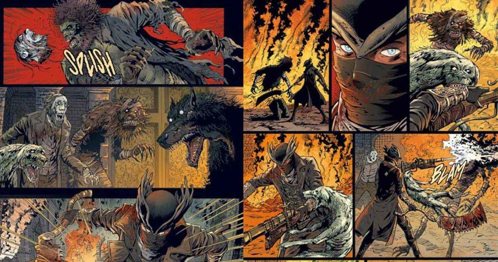 Bloodborne, alcune tavole del fumetto