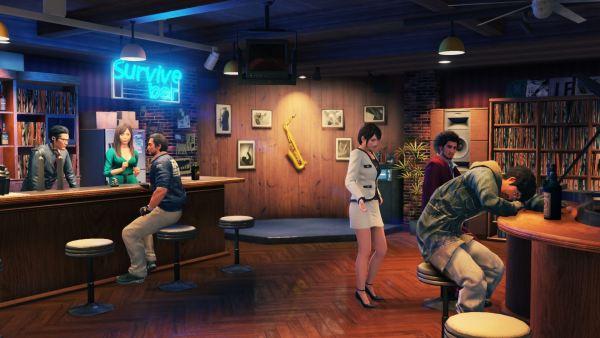 Il Survive Bar in cui potremo rifocillarci in Yakuza Like A Dragon