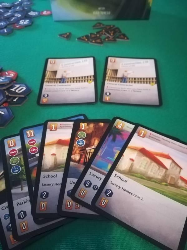 Esempio di carte del gioco The City