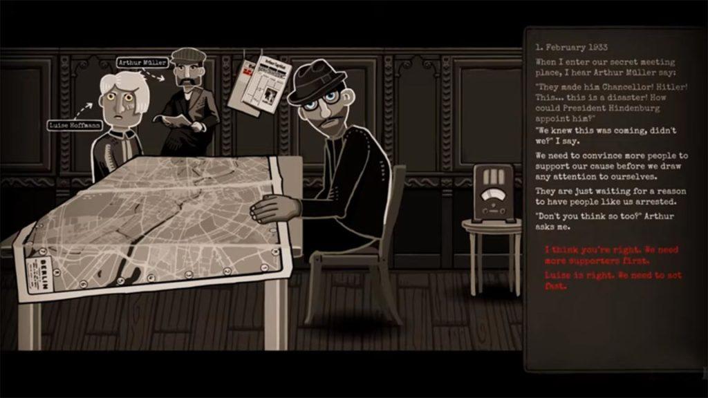 Through The Darkest Of Times cutscene