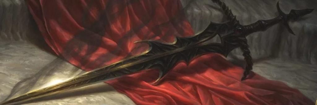 Blackblade, la spada del leggendario planeswalker Dakkon, poi impugnata da Gideon Jura durante la battaglia finale contro Nicol Bolas