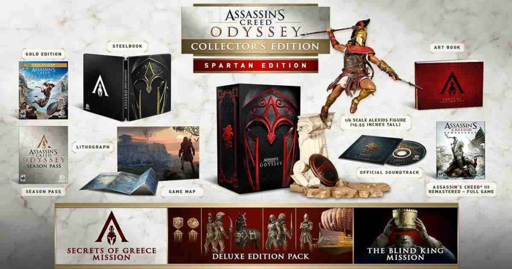 la collector's edition di assassin's creed: ragnarok