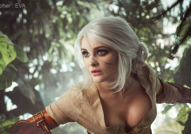 cosplay di Ciri di the witcher 3