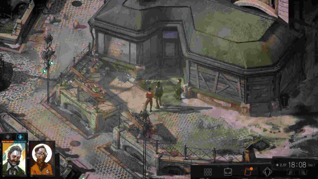 scena di gameplay di disco elysium