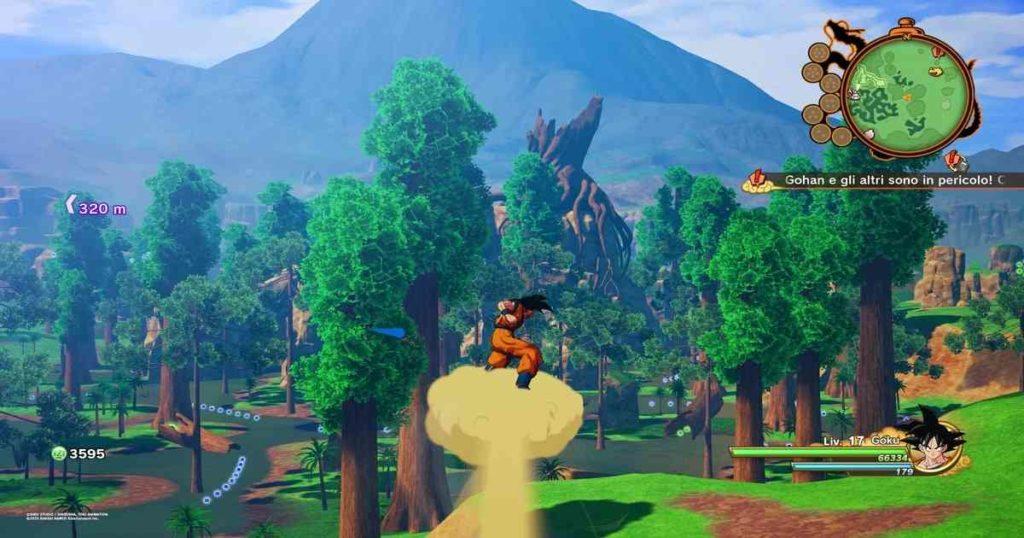 le missioni di dragon ball z kakarot