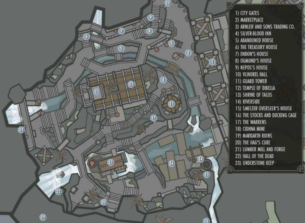 mappa di morthal in skyrim