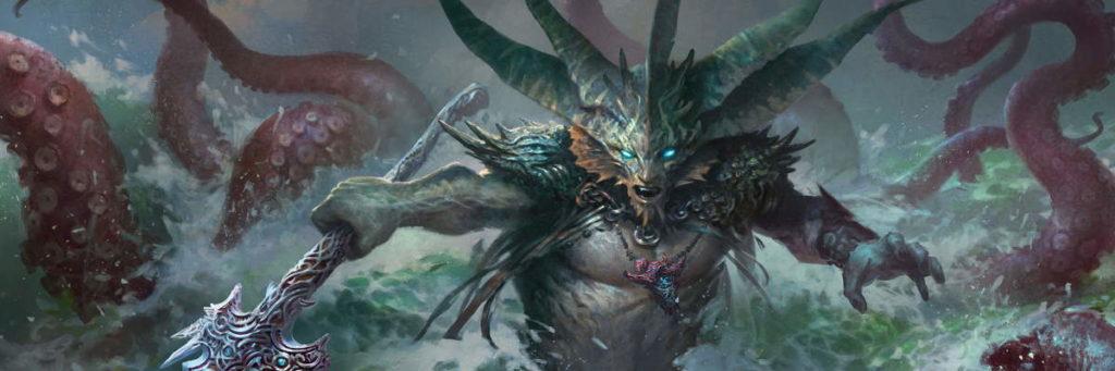 Una creatura Tritone di Magic: the Gathering