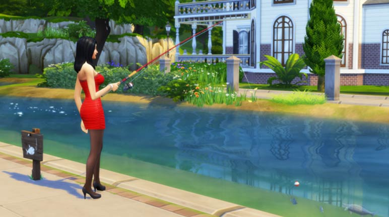 pesca in the sims 4