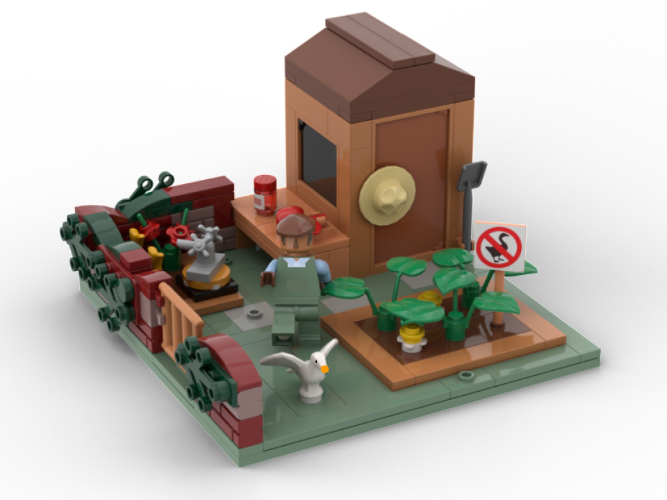 set lego di untitled goose game