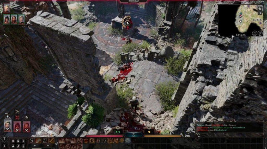 Sistema di combattimento baldur's gate 3