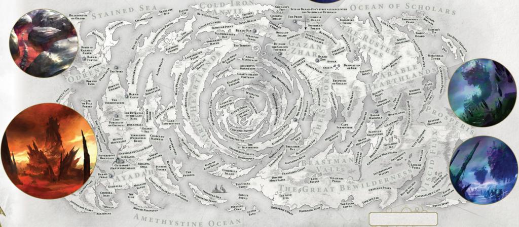 Mappa del Fulcro Spirale di Chamon