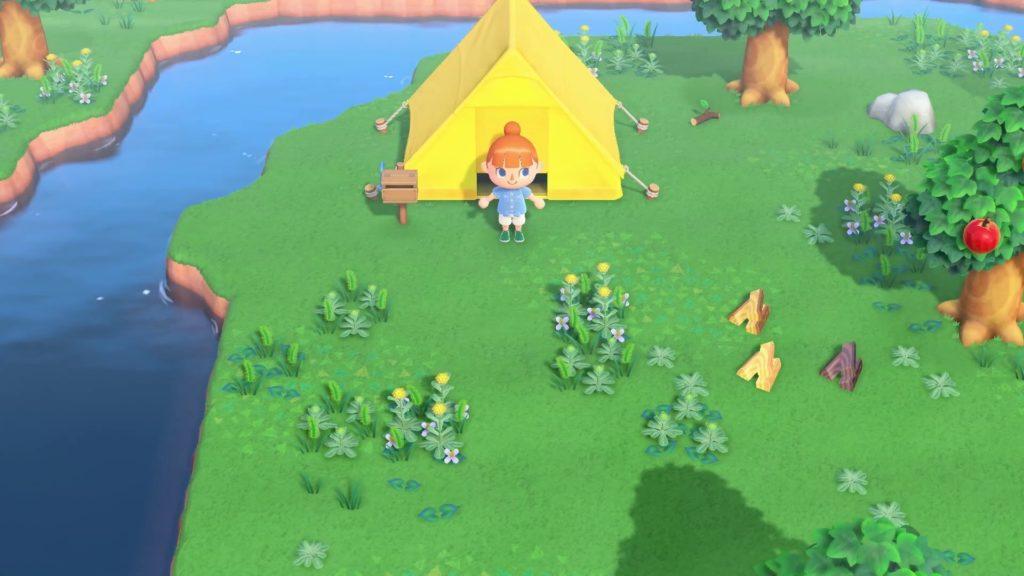 Animal Crossing la tenda