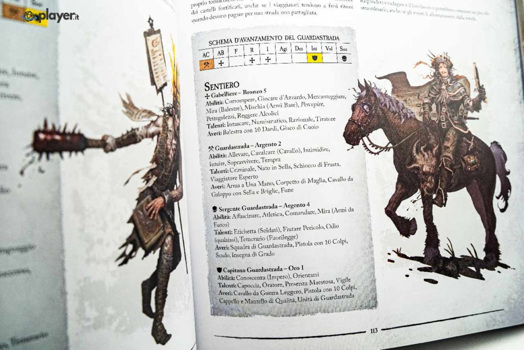 classe guardiastrada in warhammer fantasy rpg