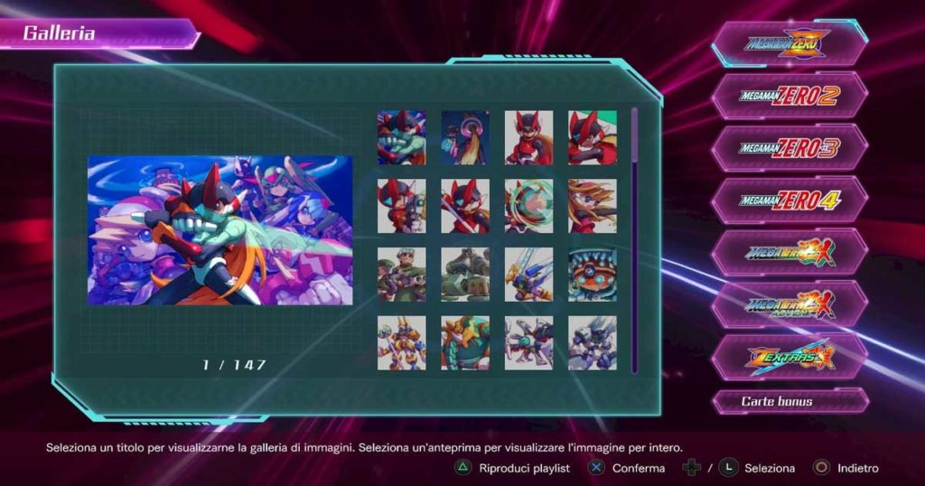 la galleria di mega man zero/zx legacy collection