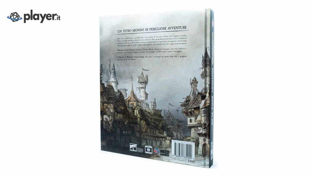 retro del manuale di warhammer fantasy gioco di ruolo