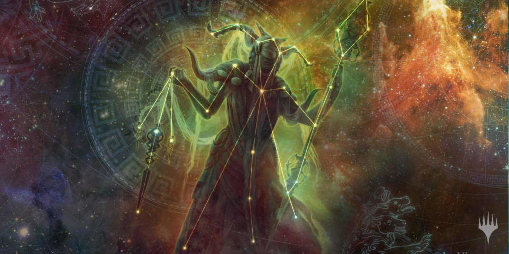 Una illustrazione alternate art per Theros Beyond Death