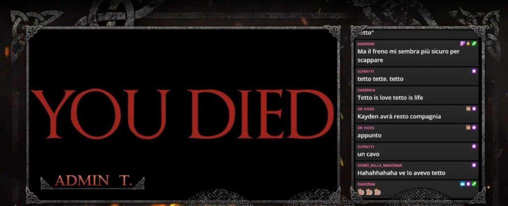 you died screenshot