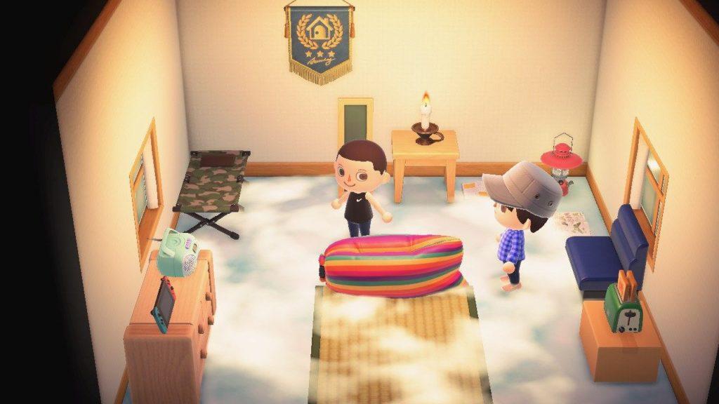 Animal Crossing New Horizons pavimento nuovole