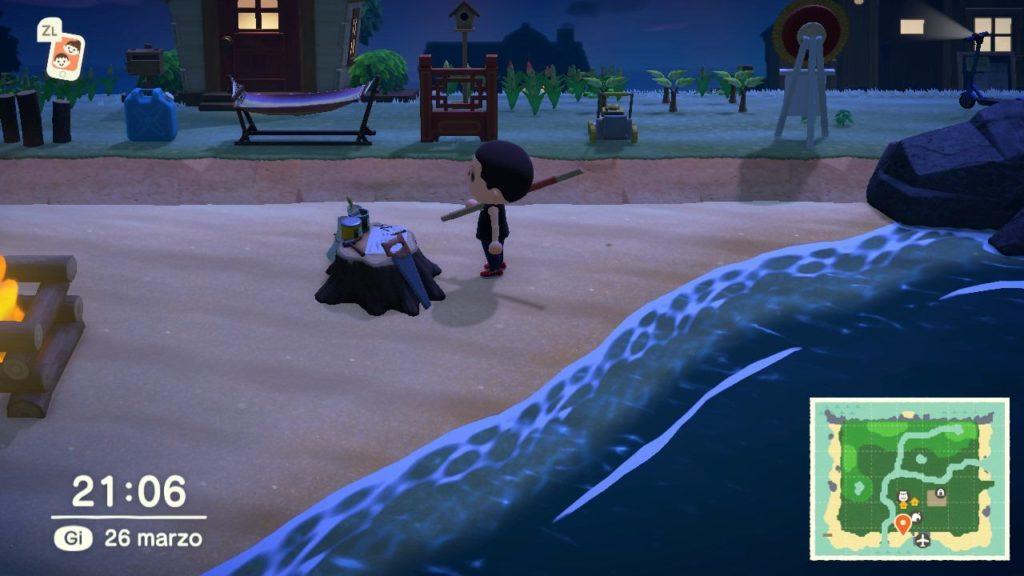 Animal-Crossing-New-Horizons-sipaggia notturna