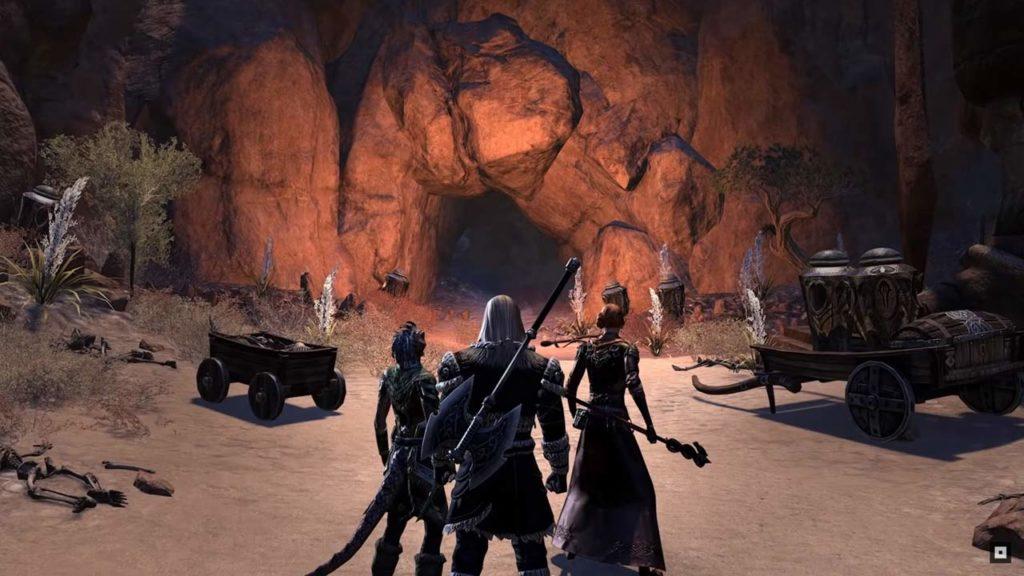 L'ingresso del dungeon Unhallowed Grave (ESO)