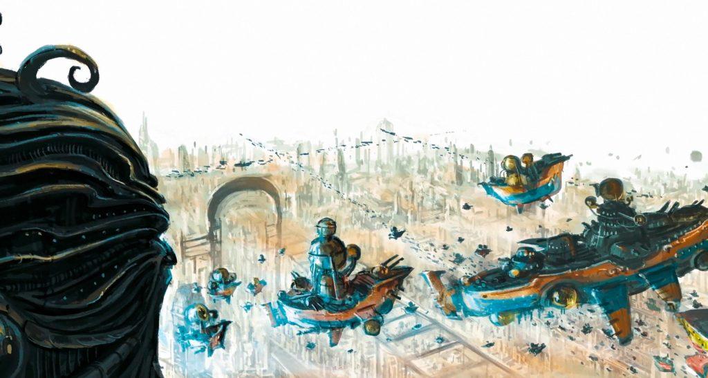 Visione di un porto celeste dei Kharadron