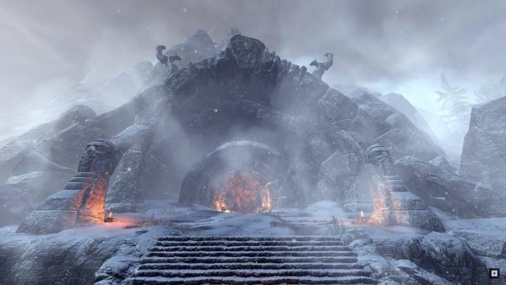 L'ingresso del dungeon Iceareach (ESO)