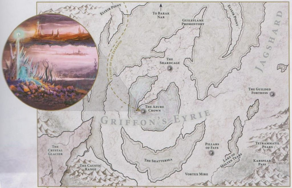 Mappa di Nido del Grifone su Chamon