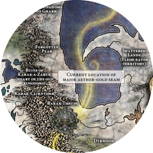 Mappa delle rovine di Karak-a-Zaruk su Chamon