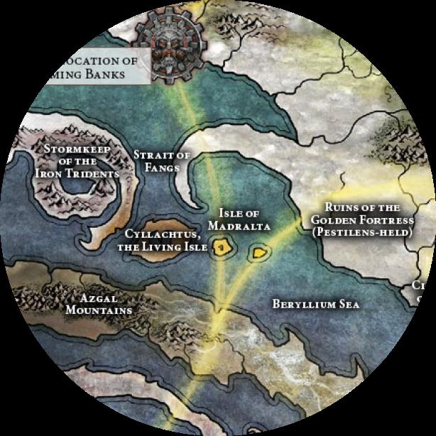 Mappa dell'Isola di Madralta su Chamon