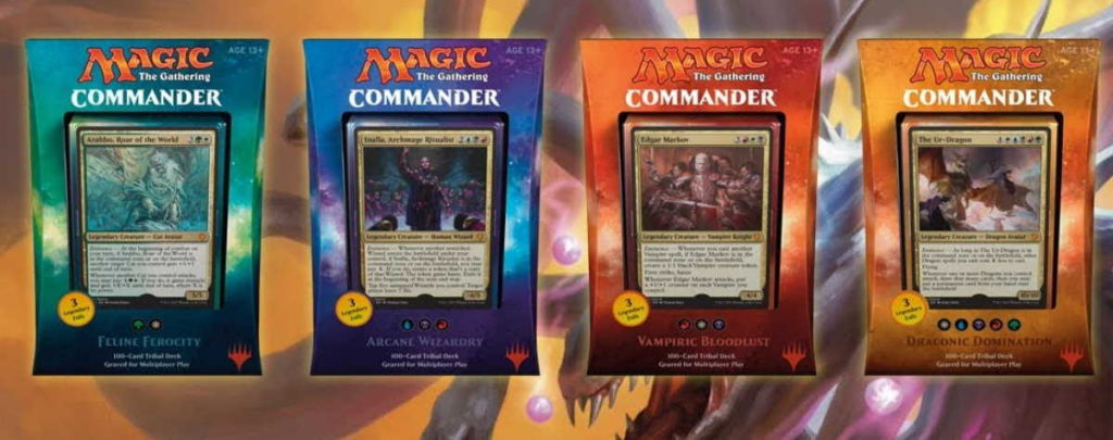I mazzi Commander usciti nel 2017 per Magic: the Gathering