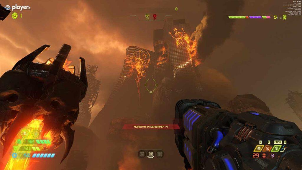 doom eternal città in fiamme