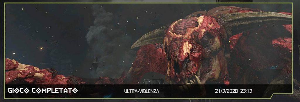 doom eternal gioco completato a ultra violenza