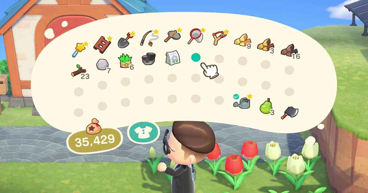 come aumentare lo spazio dell'inventario di animal crossing new horizons