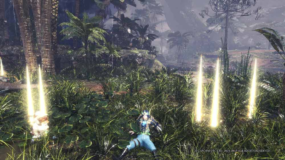 light pillars in monster hunter world