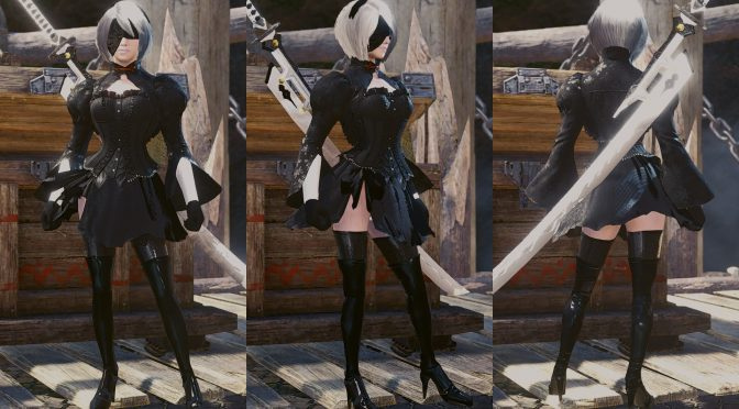 2b di nier automata in monster hunter
