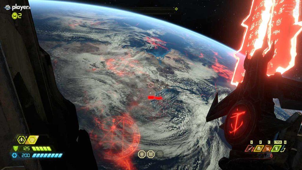 terra vista dallo spazio doom eternal