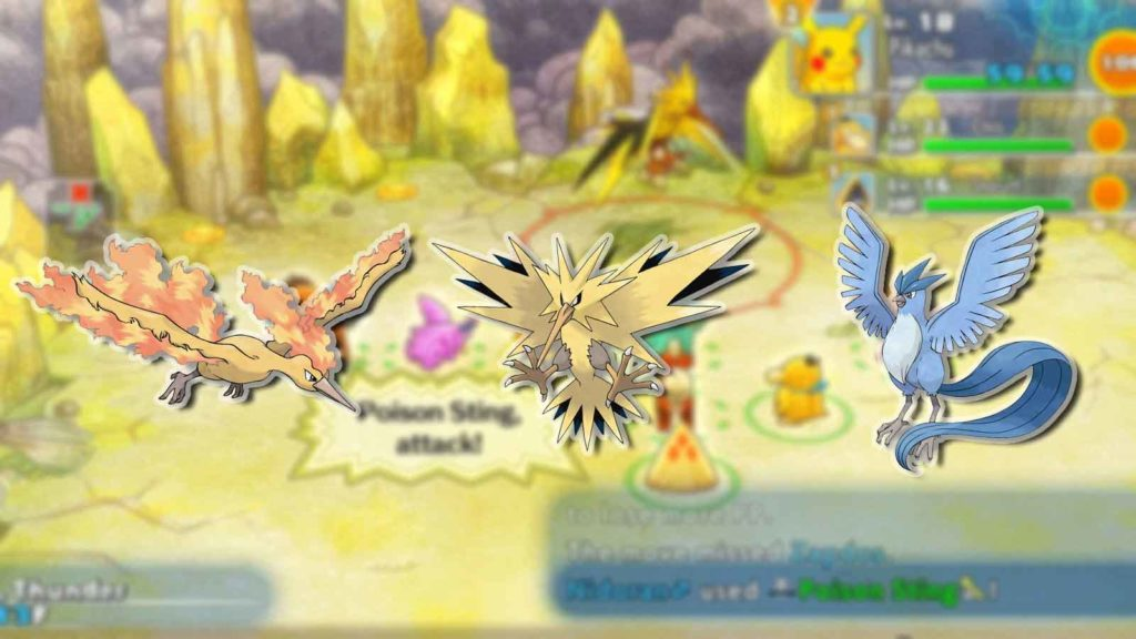 come catturare zapdos articuno moltres in pokemon mystery dungeon dx