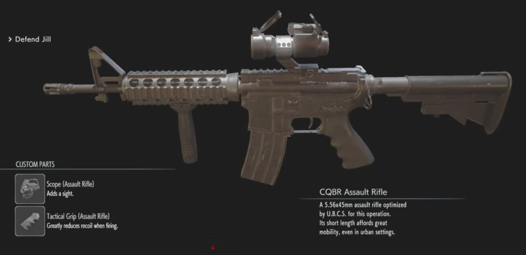 Resident Evil 3 Remake Fucile d'assalto CQBR