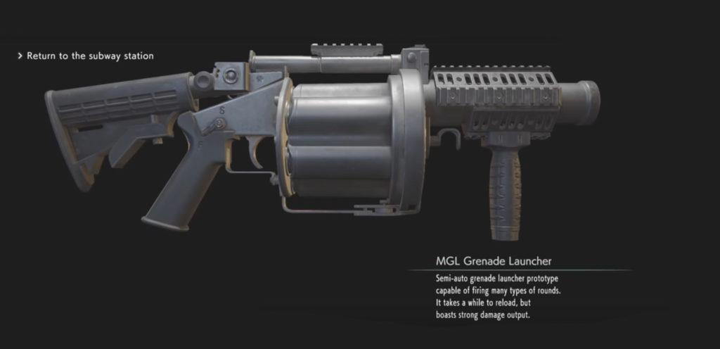 Resident Evil 3 Remake Lanciagranate MGL