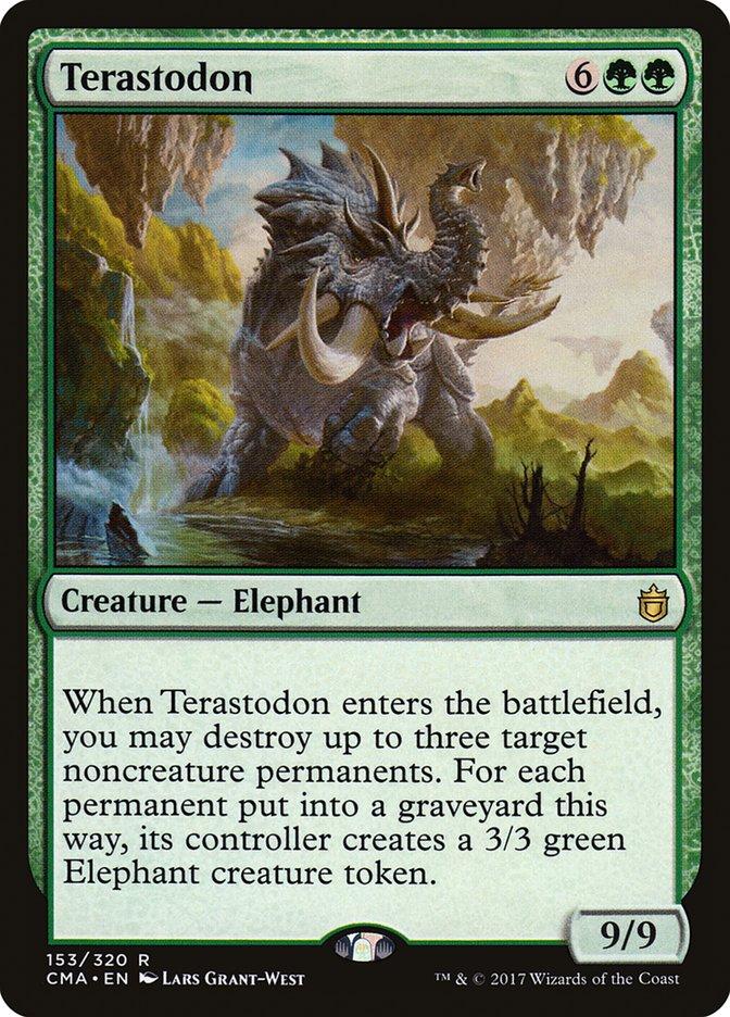 Terastodon, una delle Creature Verdi di Magic: the Gathering con la maggiore capacità di rimozione.