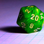 Un dado d20 per giocare a Dungeons & Dragons