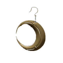 f7 remake crescent moon earring