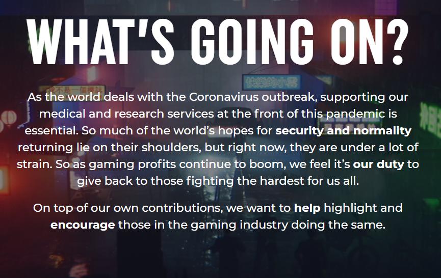 Banner dell'iniziativa contro il Coronavirus