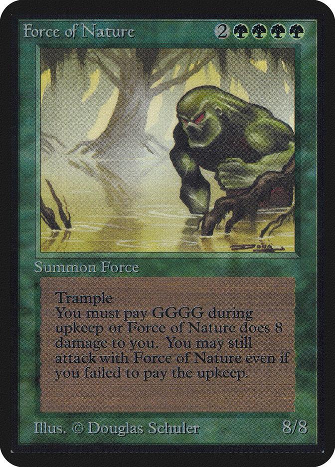 La carta di Magic: the Gathering Forza della Natura nella sua versione  della Prima Edizione inglese.