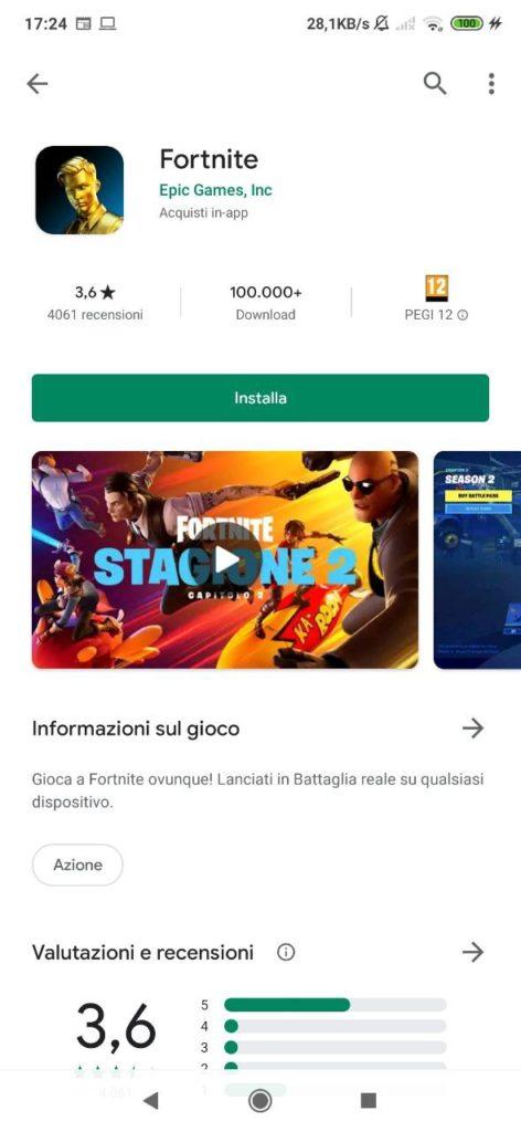 fortnite google play store