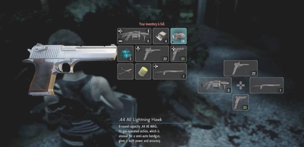 Resident Evil 3 Remake .44 AE Lightning Hawk